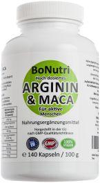 Hoch dosiertes Arginin & Maca von BoNutri
