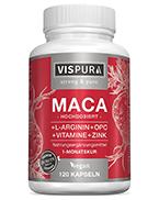 Maca Kapseln hochdosiert 5000mg + L-Arginin 1800mg + VITAL Formel B6, B12, OPC, Zink